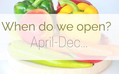 When do we open?